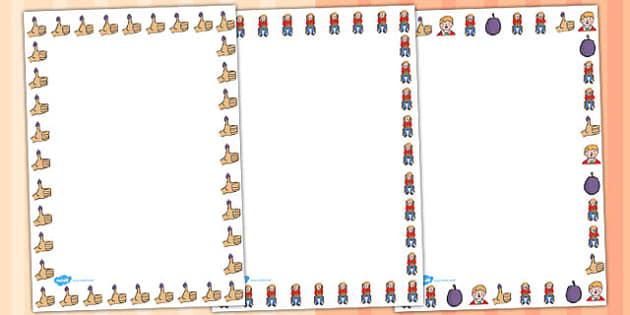 Little Jack Horner Page Border - Little Jack Horner, page border, border, writing template, frame, nursery rhyme, rhyme, rhyming, nursery rhyme story, nursery rhymes, Little Jack Horner resources