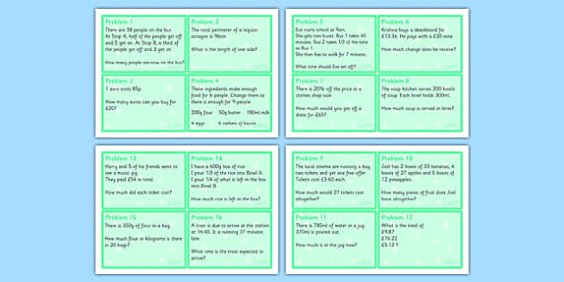 Maths Problem Cards Year 5 - problem cards, flash cards, question cards, maths problem cards, numeracy problem cards, numeracy question cards, year 5, tricky numeracy problems, time, addition, subtraction, money value