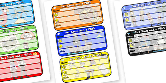 Themed Two Stars and a Wish Comment Labels Pirates - Themed Labels, Labels, Pirate Themed, Two Stars And A Wish, Comment Labels, Pirate Labels