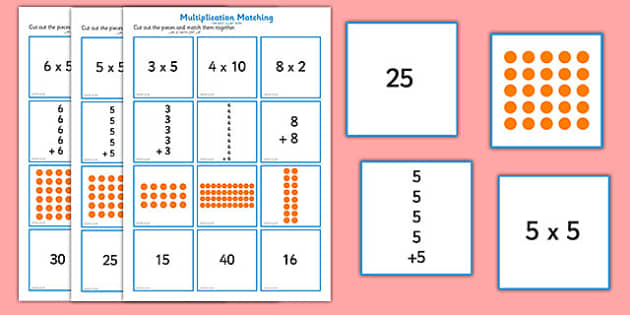 2, 5 and 10 Times Table Multiplication Matching Puzzle Arabic Translation - arabic, multiplication, matching, puzzle