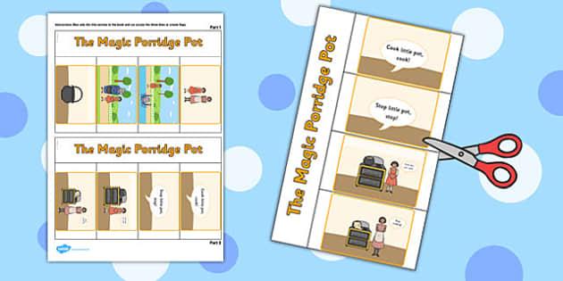 The Magic Porridge Pot Story Writing Flap Book - flap book, story