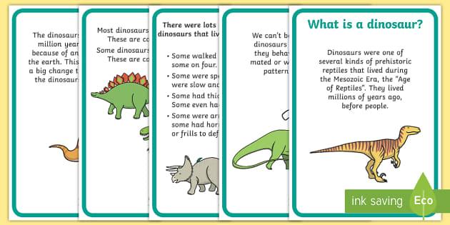 Dinosaur Fact Display Posters - dinosaur, dinosaur facts, display, poster, sign, whats a dinosaur, herbivores, carbivores