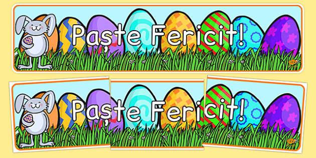Banner, Paste - pastele, religie, sarbatoare Paște fericit! - Banner