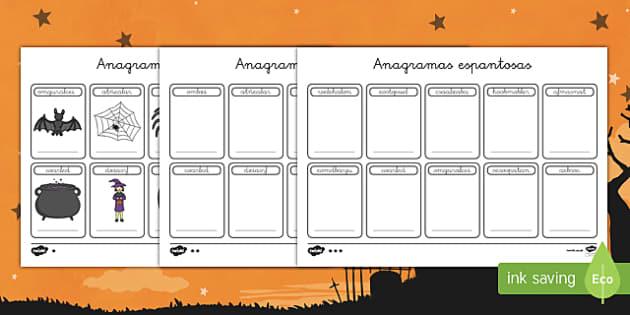 Halloween anagramas