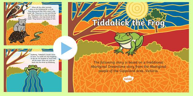 Tiddalick the Frog PowerPoint-Australia
