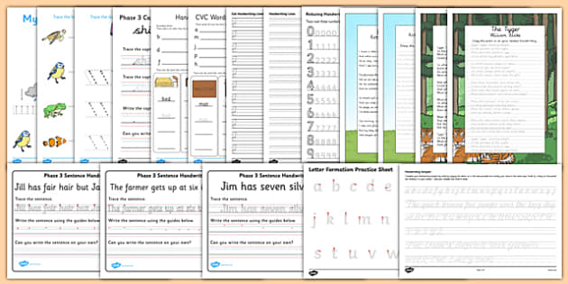 Parents' Handwriting Activity Pack