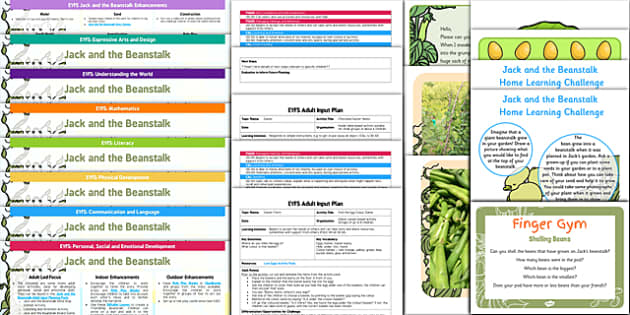 EYFS Jack and the Beanstalk Bumper Planning Pack - planning