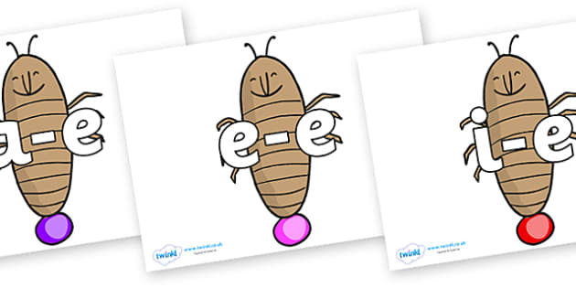 Modifying E Letters on Glowworm to Support Teaching on James and the Giant Peach - Modifying E, letters, modify, Phase 5, Phase five, alternative spellings for phonemes, DfES letters and Sounds