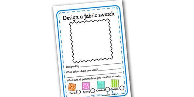 Fashion Design Studio Fabric Design Worksheet - fashion design studio, fabric design worksheet, worksheet, role play, fashion design studio worksheet
