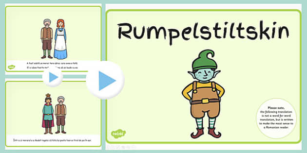 Rumpelstiltskin, Powerpoint, lectura, rezumat cu imagini, Romanian