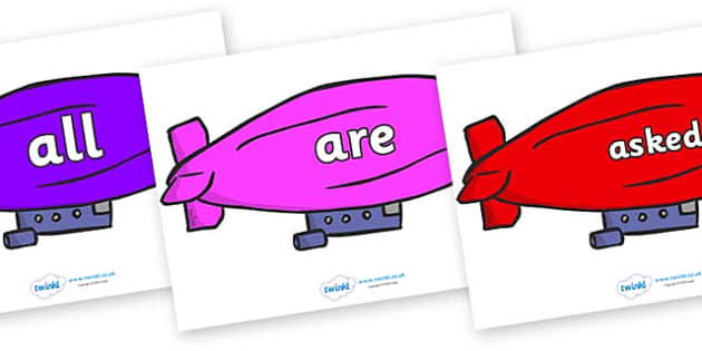 Tricky Words on Air Bus - Tricky words, DfES Letters and Sounds, Letters and sounds, display, words