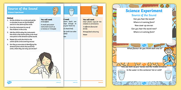 EYFS All About Me/Ourselves - My Senses Science Experiments Resource Pack