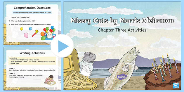 Chapter 3 Activities to Support Teaching on Misery Guts by Morris Gleitzman PowerPoint-Australia - Literacy, powerpoint, literature, australian curriculum, literature, novel study, misery guts by mor