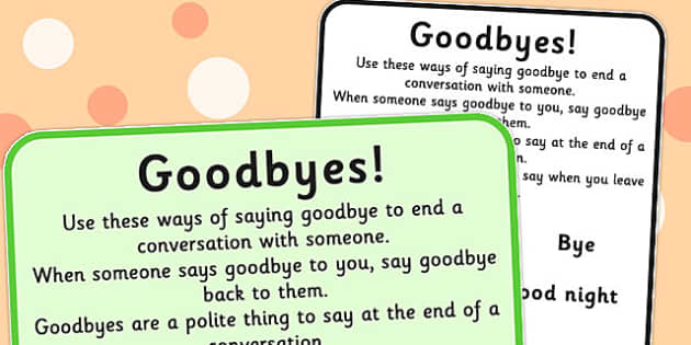 Ending Conversations Goodbyes - ending, conversations, goodbyes