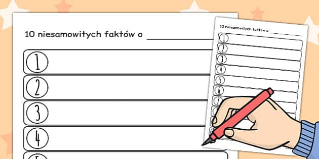 Ten Facts About Me Worksheet Polish - polish, ten, facts, about, me