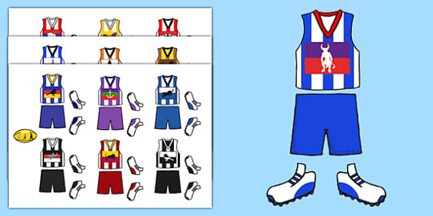 AFL Australian Football League Football Kit Cut Outs - display
