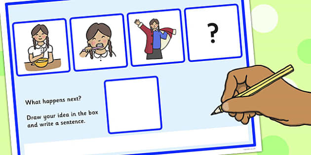 What Happens Next? Fill in the Blank Worksheet for 'Girl Getting