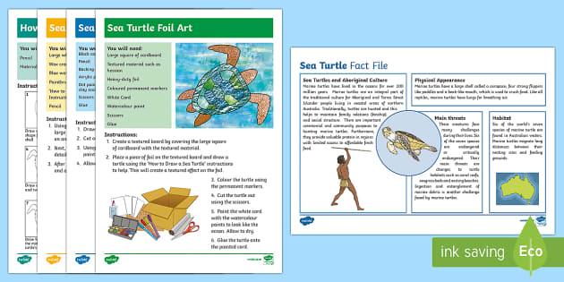 Australian Aboriginal Sea Turtles Artwork-Australia