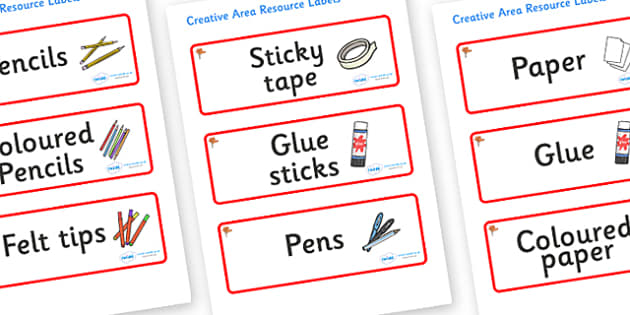 Ginko Tree Themed Editable Creative Area Resource Labels - Themed creative resource labels, Label template, Resource Label, Name Labels, Editable Labels, Drawer Labels, KS1 Labels, Foundation Labels, Foundation Stage Labels