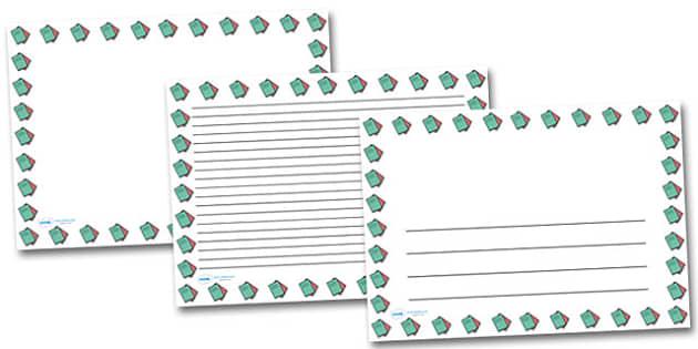 Exercise Books Landscape Page Borders- Landscape Page Borders - Page border, border, writing template, writing aid, writing frame, a4 border, template, templates, landscape