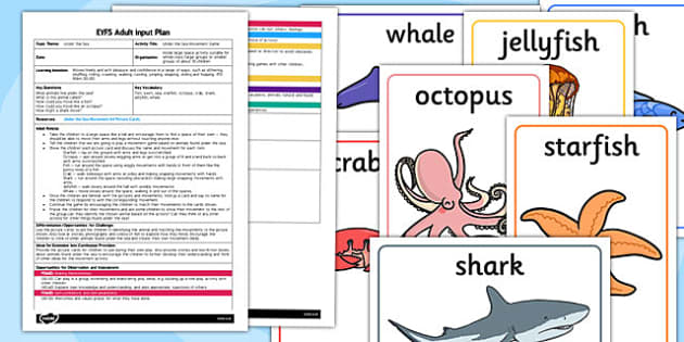 Under the Sea Movement Game EYFS Adult Input Plan Resource Pack