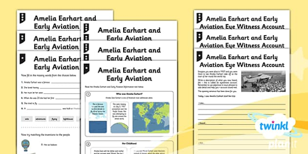 PlanIt Y2 Explorers Home Learning Tasks - explorers, adventure story, stories, eyewitness account, information text, biography, reading comprehension, Up, Amelia Earhart, homework