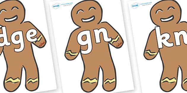 Silent Letters on Gingerbread Men - Silent Letters, silent letter, letter blend, consonant, consonants, digraph, trigraph, A-Z letters, literacy, alphabet, letters, alternative sounds