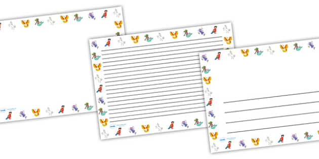 Fantasy Page Borders Landscape - fantasy, page borders, landscape, lanscape borders, writing frames, writing guides, writing templates, line guides