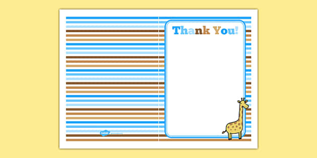 Baby Shower Thank You Card Blue Themed - baby shower, baby, shower, newborn, pregnancy, new parents, thank you card