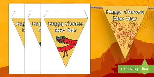 Happy Chinese New Year Display Bunting