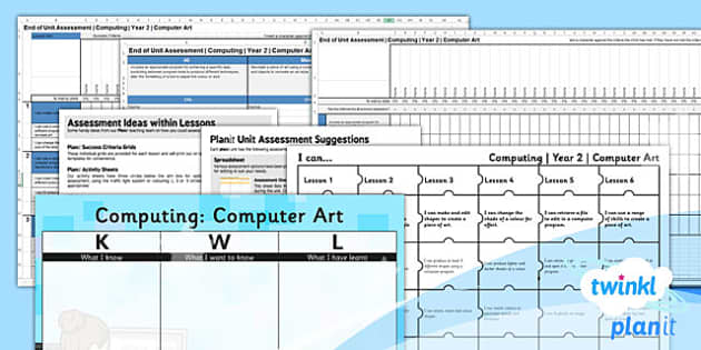 PlanIt - Computing Year 2 - Computer Art Assessment Pack - planit, computing, year 2, computer art, assessment pack