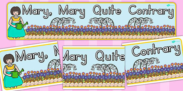 Mary Mary Quite Contrary Display Banner - australia, display