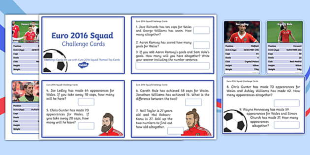 Euro 2016 Challenge Cards and Top Cards Pack - welsh, cymraeg, euro 2016, challenge cards, top cars, top trumps