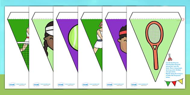 Wimbledon Bunting - wimbledon, wimbledon tournament, wimbledon 2013, wimbledon resources, wimbledon display, wimbledon display bunting, wimbledon flags