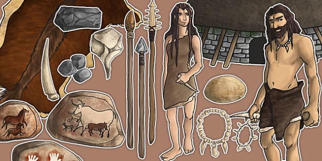 Stone Age Large Display Cut Out Pack - stone age, display, cut out