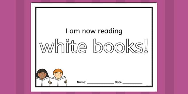 I'm Now Reading White Books Certificate - certificate, reading