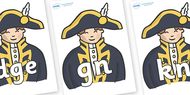 Silent Letters on Admirals - Silent Letters, silent letter, letter blend, consonant, consonants, digraph, trigraph, A-Z letters, literacy, alphabet, letters, alternative sounds