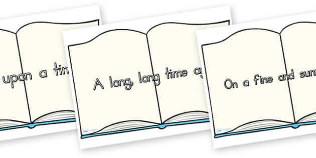 Traditional Story Opener Display Posters Book - opener, display