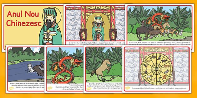 Anul Nou Chinezesc, lectura, rezumat cu imagini, imprimabile, Romanian
