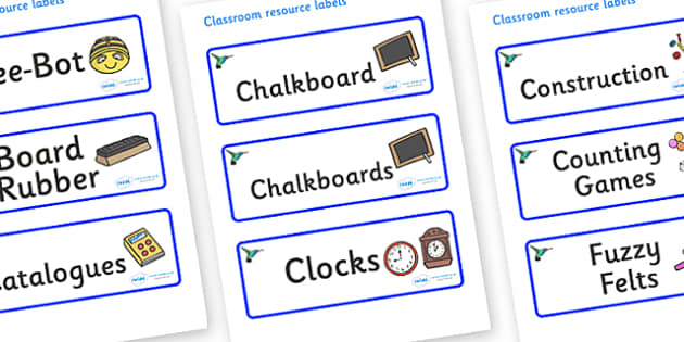 Hummingbird Themed Editable Additional Classroom Resource Labels - Themed Label template, Resource Label, Name Labels, Editable Labels, Drawer Labels, KS1 Labels, Foundation Labels, Foundation Stage Labels, Teaching Labels, Resource Labels, Tray Labe