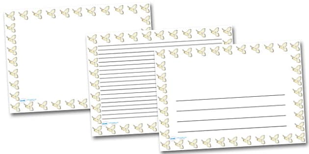 Kestrel Landscape Page Borders- Landscape Page Borders - Page border, border, writing template, writing aid, writing frame, a4 border, template, templates, landscape
