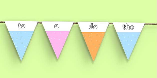 Year 1 Common Exception Words Bunting - year 1, common exception words, bunting, display