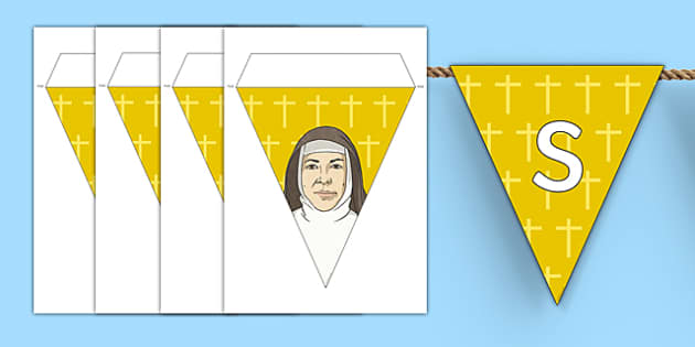 Saint Mary MacKillop Display Bunting-Australia
