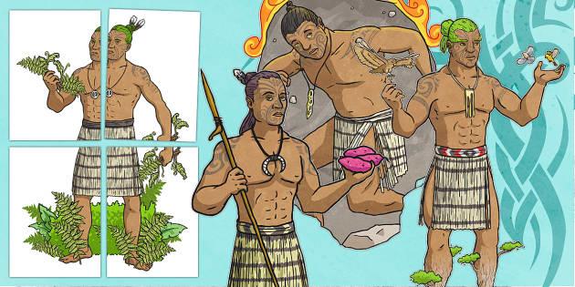 Maori Gods Display Cut-Outs - nz, new zealand, Maori Gods, display cutouts