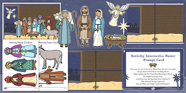 Childminder Nativity Display Pack - childminder, nativity, display pack, display, pack