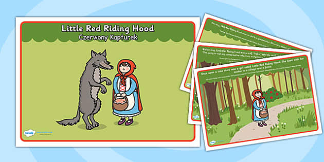 Little Red Riding Hood Story Polish Translation  - polish, little red