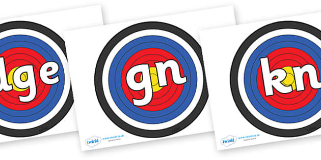 Silent Letters on Archery Targets - Silent Letters, silent letter, letter blend, consonant, consonants, digraph, trigraph, A-Z letters, literacy, alphabet, letters, alternative sounds
