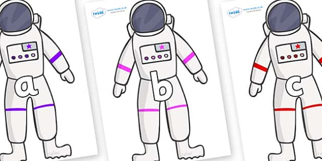 Phase 2 Phonemes on Astronaut - Phonemes, phoneme, Phase 2, Phase two, Foundation, Literacy, Letters and Sounds, DfES, display