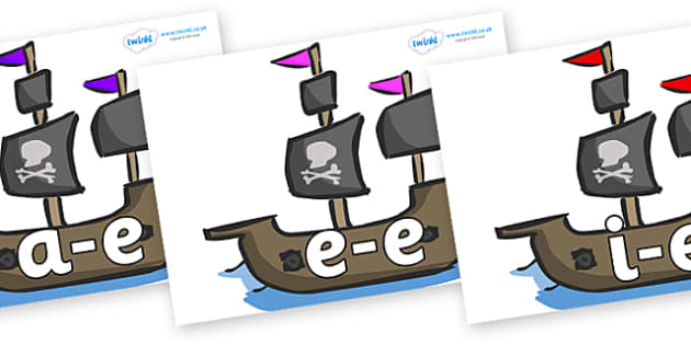 Modifying E Letters on Pirate Ships - Modifying E, letters, modify, Phase 5, Phase five, alternative spellings for phonemes, DfES letters and Sounds