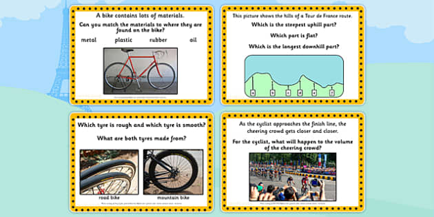 Tour de France KS1 Science Challenge Cards - le tour, science